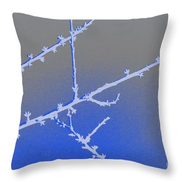 Blue Branches 2 Throw Pillow by Carol Lynch