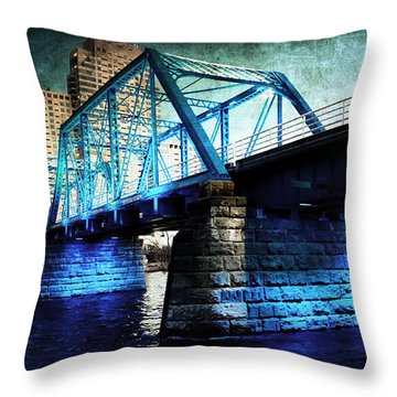 Blue Bridge Throw Pillow