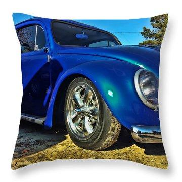Blue Bug Throw Pillow