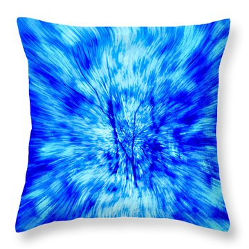Blue Burst Of Autumn Throw Pillow by Kellice Swaggerty