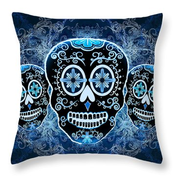 Three Amigos Throw Pillow by Tammy Wetzel