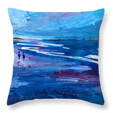 Blue Californian Seascape In Big Sur Throw Pillow by M Bleichner