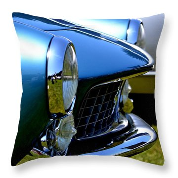 Blue Car Throw Pillow by Dean Ferreira