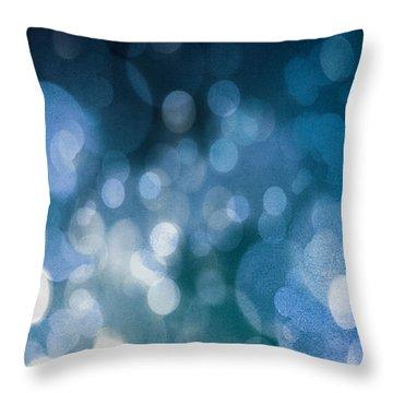 Blue Throw Pillow by Carlee Ojeda