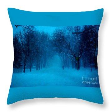 Blue Chicago Blizzard  Throw Pillow