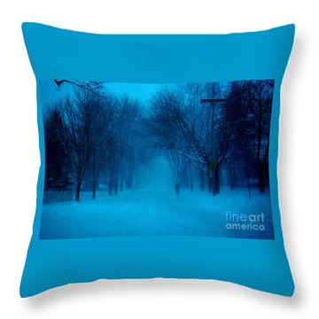 Blue Chicago Blizzard  Throw Pillow