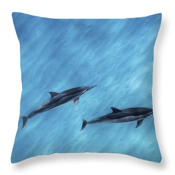 Blue Chill Throw Pillow by Sean Davey