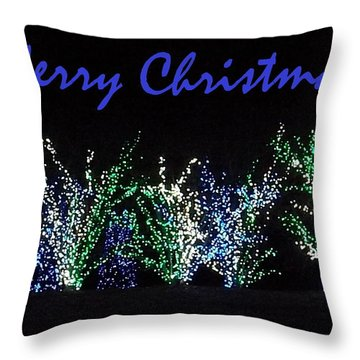 Blue Christmas Throw Pillow by Darren Robinson
