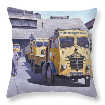 Blue Circle Fodens Throw Pillow by Mike  Jeffries