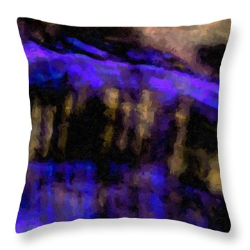 Blue Cliff Throw Pillow
