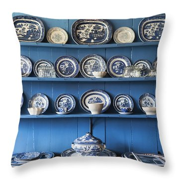 Blue Collection Throw Pillow by Svetlana Sewell