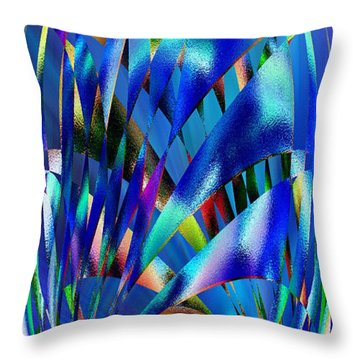 Blue Cosmic Egg - Abstract Throw Pillow