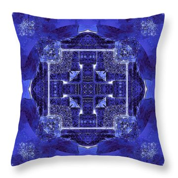 Blue Cross Radiance Throw Pillow