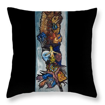 Blue Crow Feather- Crow Series Throw Pillow