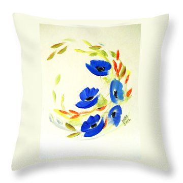 Throw Pillow featuring the painting Blue Dance by Dorothy Maier