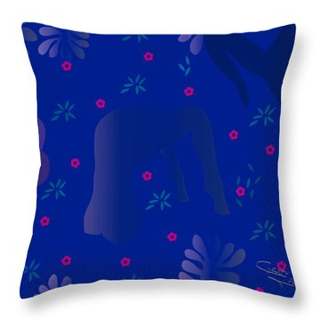 Blue Dance - Limited Edition  Of 30 Throw Pillow