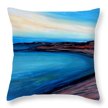 Blue Vista Throw Pillow