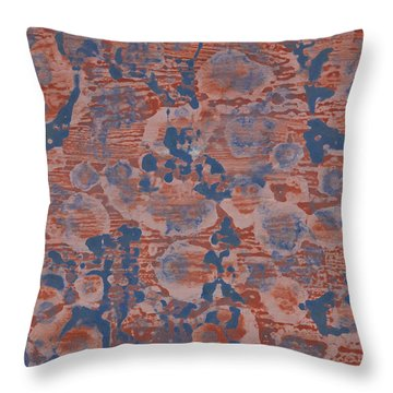 Blue Throw Pillow by Darice Machel McGuire