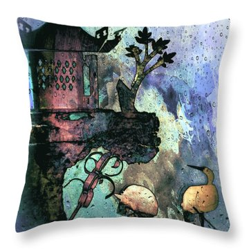 Blue Day In The Orient Throw Pillow