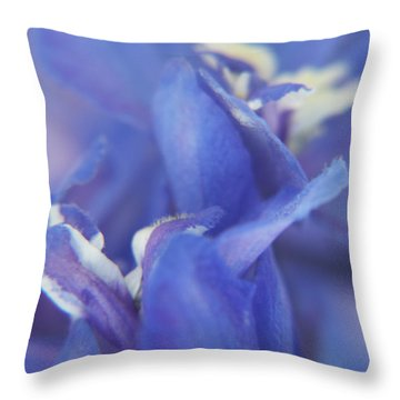 Blue Delight Throw Pillow