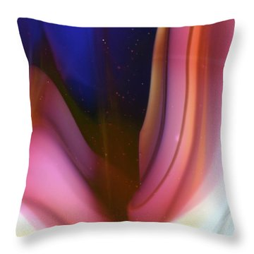 Blue Depths Throw Pillow