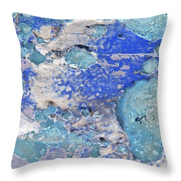 Blue Dog Boo Abstract Throw Pillow
