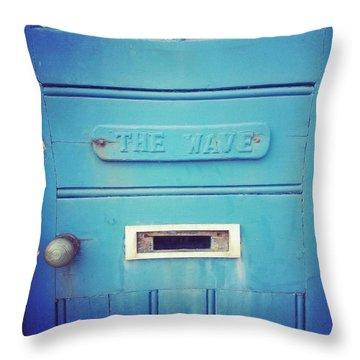Blue Door. Throw Pillow