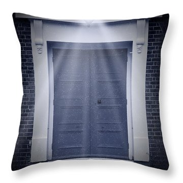 Blue Door Throw Pillow by Svetlana Sewell