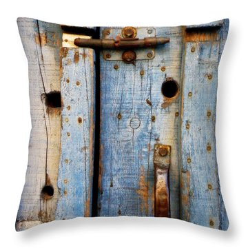Blue Door Weathered To Perfection Throw Pillow