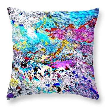 Blue Dragon Trail Throw Pillow by Mathilde Vhargon