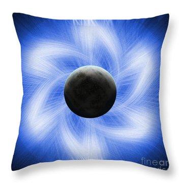 Blue Eclipse Throw Pillow by Antony McAulay