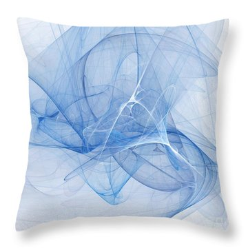Blue Throw Pillow by Elizabeth McTaggart