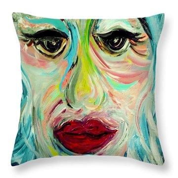 Blue Throw Pillow by Eloise Schneider