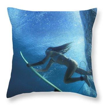 Blue Embrace Throw Pillow