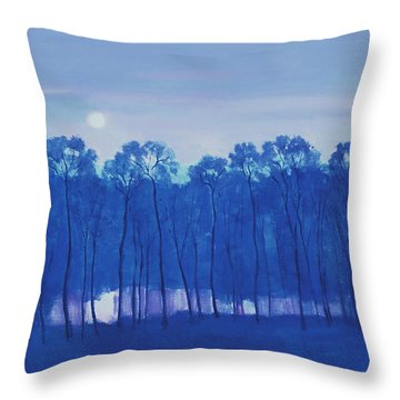 Blue Enchantment Il Throw Pillow