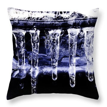 Blue Eycz Throw Pillow