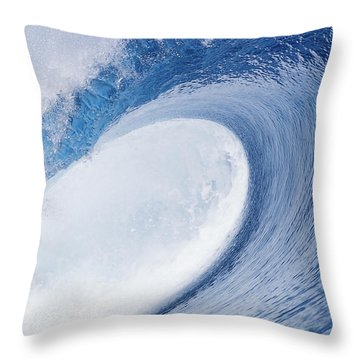 Blue Eye Throw Pillow