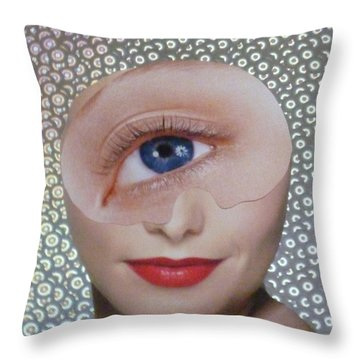 Blue Eyed Cutie  Throw Pillow by Douglas Fromm