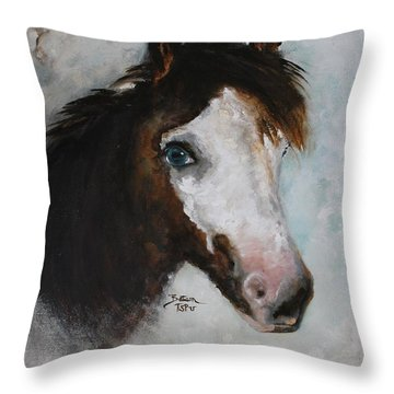 Throw Pillow featuring the painting Razzle  by Barbie Batson