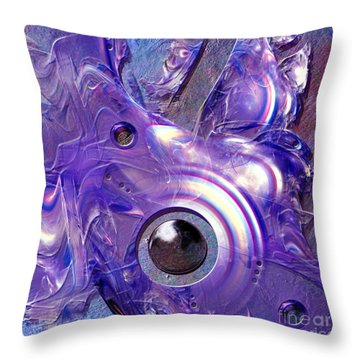 Blue Fantasy Throw Pillow