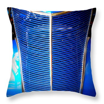 Blue Ford Truck Throw Pillow