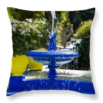 Blue Fountain Throw Pillow