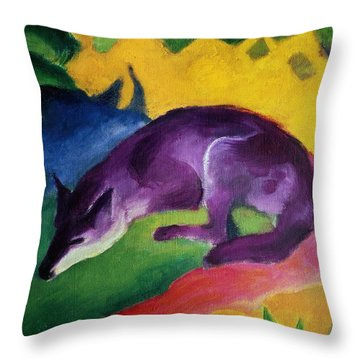 The Blue Rider Throw Pillows