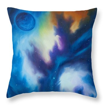 Blue Giant Throw Pillow by James Christopher Hill