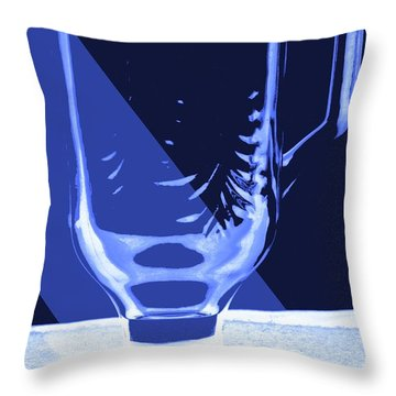 Throw Pillow featuring the photograph Blue Glass by Bob Pardue
