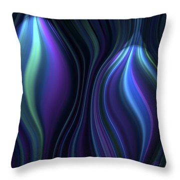 Blue Globes Throw Pillow
