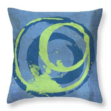 Blue Green 7 Throw Pillow