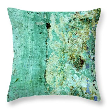 Blue Green Wall Throw Pillow