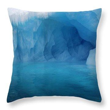 Blue Grotto Throw Pillow