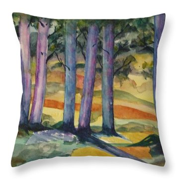 Blue Grove Throw Pillow